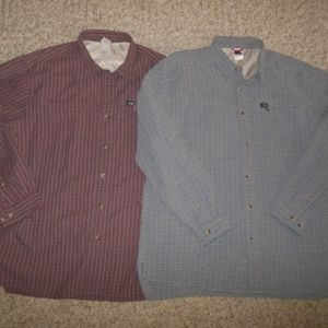 Set Of 2 XL The North Face Plaid Button Shirts